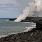 Ocean entry on Kilauea