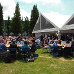 Delegates enjoy a sunny lunch outside!