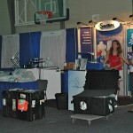 Exhibitor set-up; Savillex booth