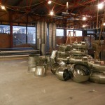 The new ductwork, ready to be installed.  Photo dated April 5, 2011.