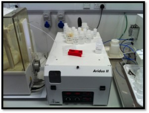 Figure 4: Photograph of the Aridus II used during analysis in dry plasma.