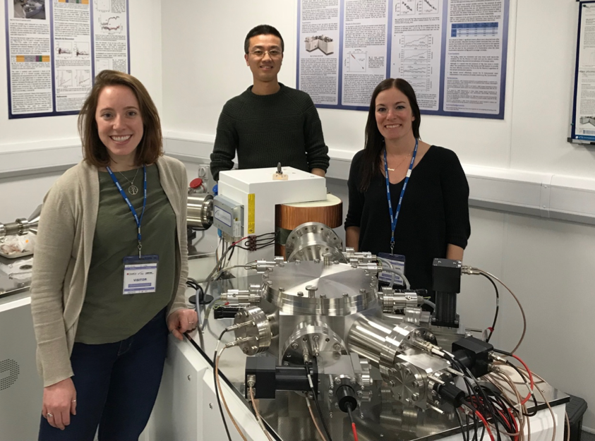 Figure 3. Liz and Laura with Dr. Ye Zhao at Nu Instruments in November, 2017. Experiments at Nu were performed on the Nu Plasma 3 using dry plasma.